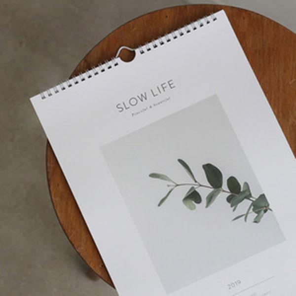 2019 Slow life wall calendar