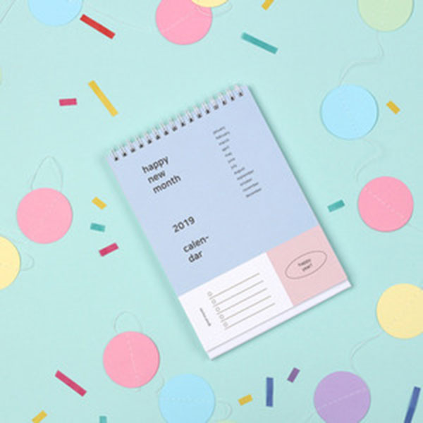 2019 Happy month desk calendar
