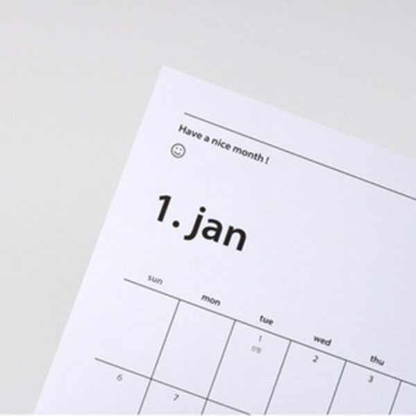 2019 Have a nice month Calendar planner