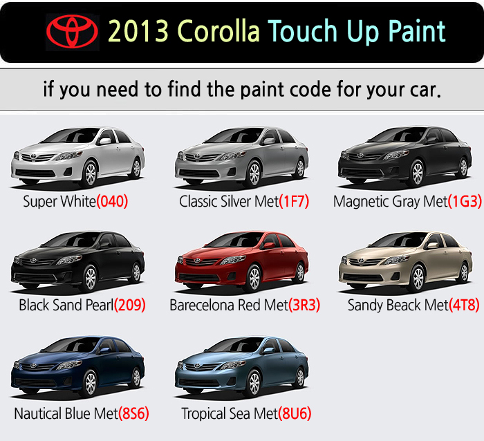 Magictip toyota corolla touch up paint pen 040 1f7 1g3 209 for Toyota paint touch up pen