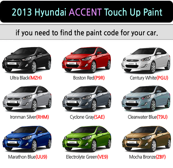 Hyundai Touch Up Paint Instructions