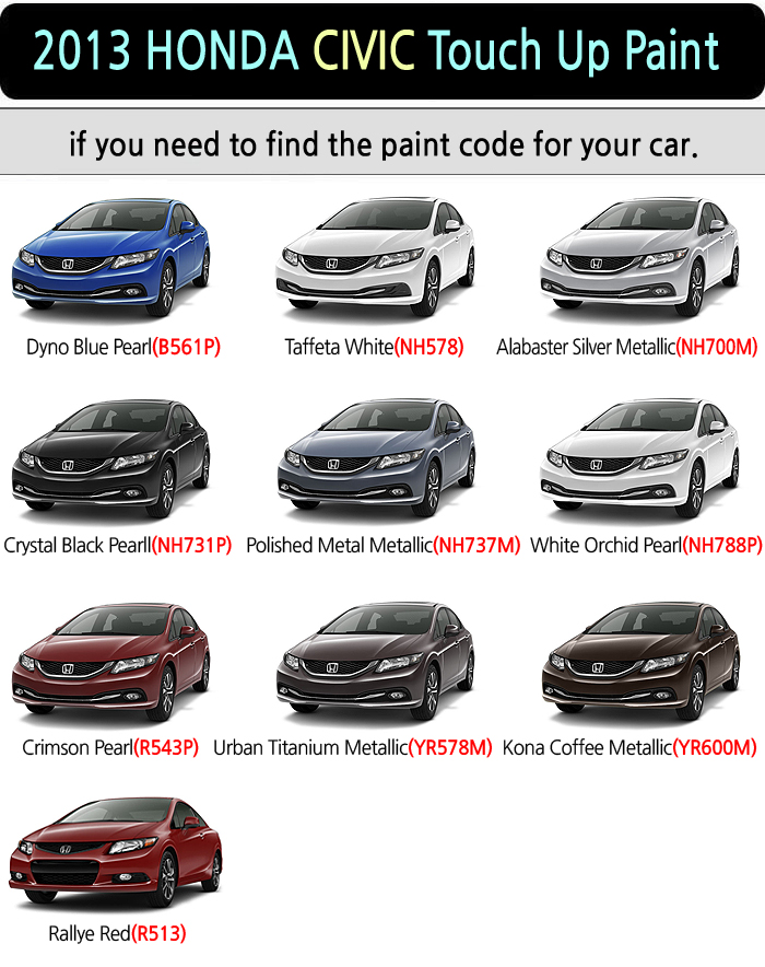Honda Touch Up Paint Where To Find Color Code