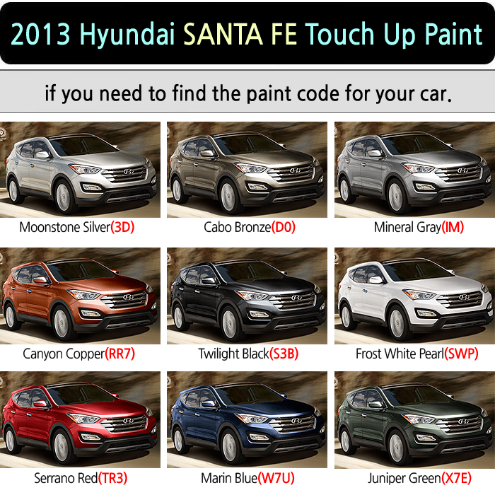 Hyundai Santa Fe Sport Touch Up Paint