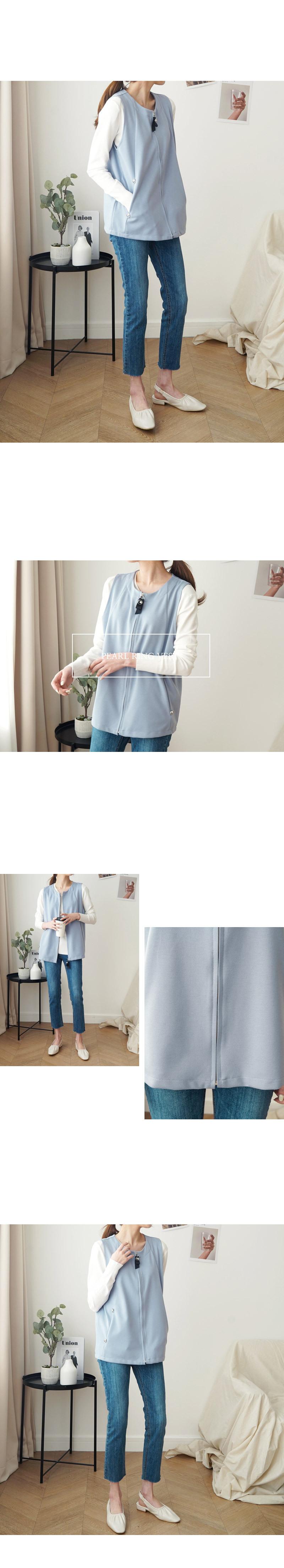 겟잇미 봄 진주 라운드 베스트 조끼 - 겟잇미, 40,840원, 아우터, 자켓
