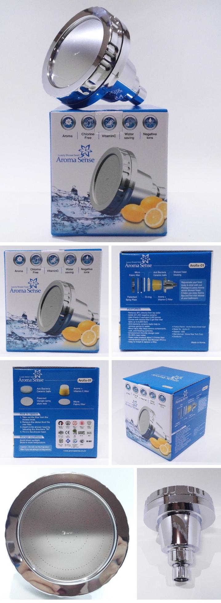 kntec aroma sense vitamin c water saving super jet arofix 01 fixed shower head ebay. Black Bedroom Furniture Sets. Home Design Ideas