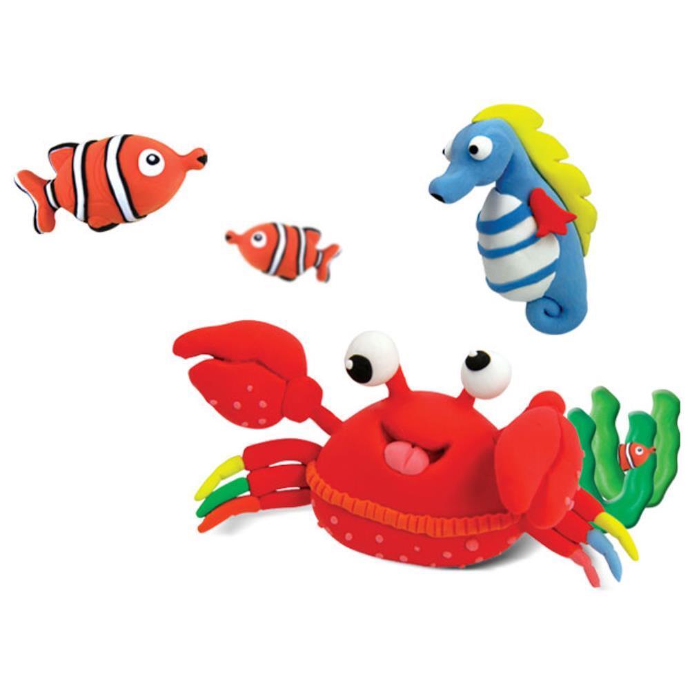 바다생물만들기 촉감놀이 클레이 점토 5개 유아쿠킹