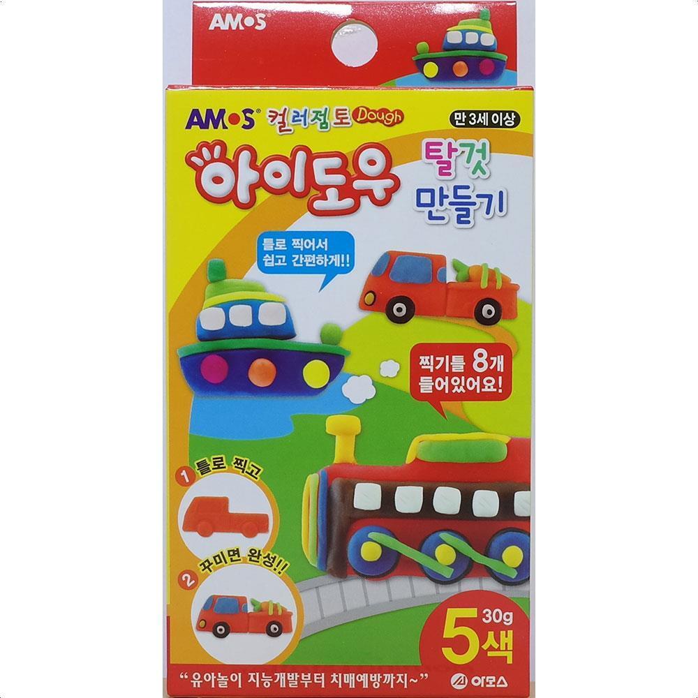 아동장난감  찍기놀이 오감발달 아이도우 컬러점토 5개