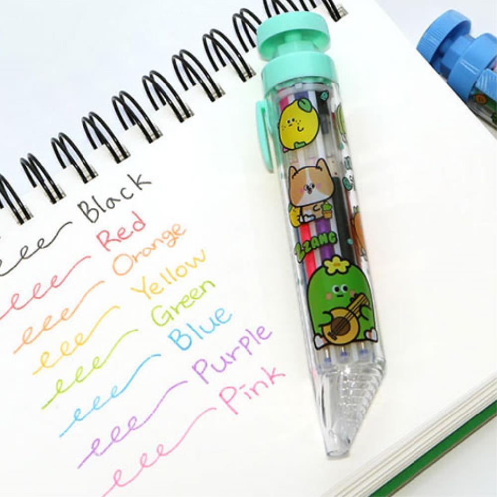 색칠놀이 밑줄치기  노트필기 8색 볼펜 다꾸 젤펜 5개