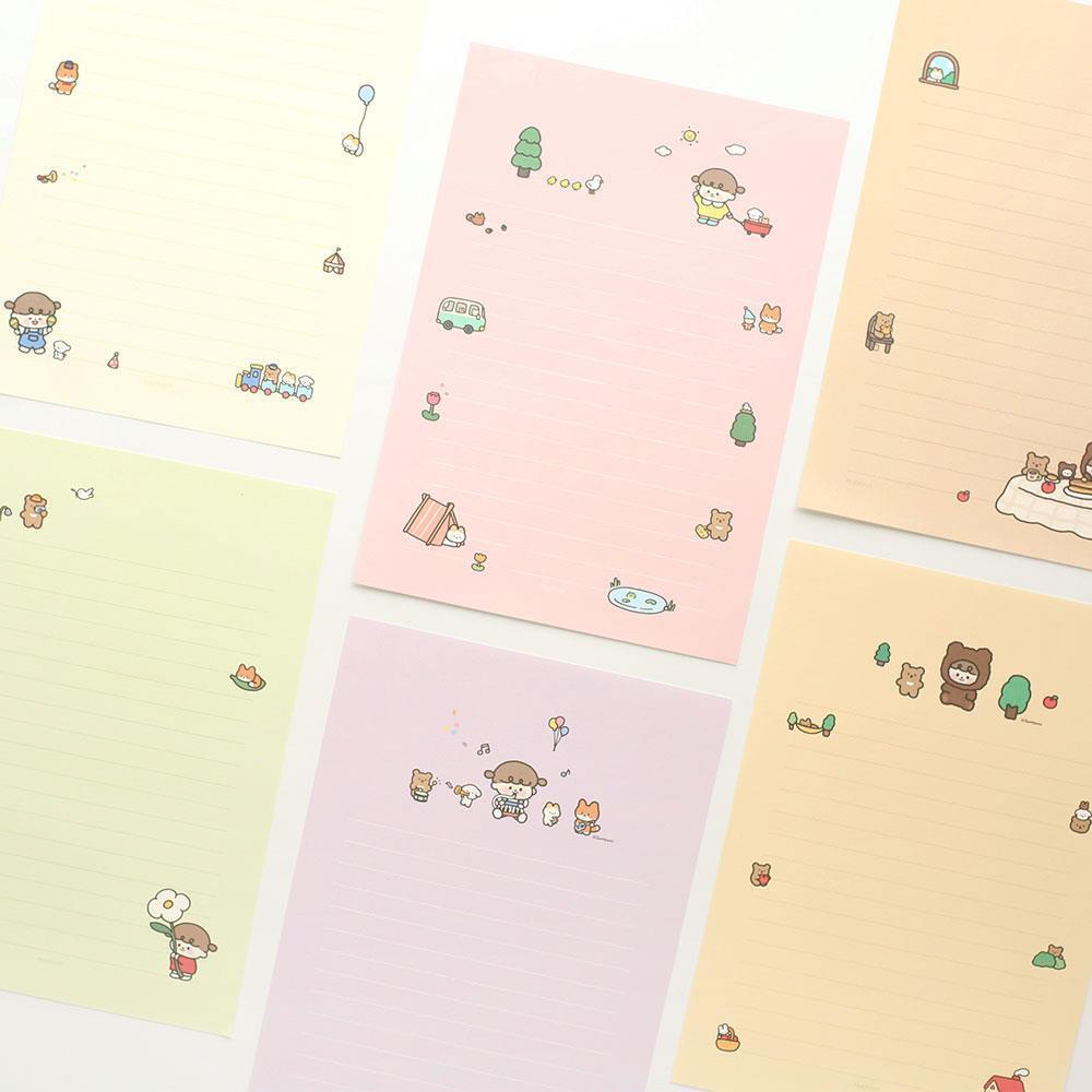 남자친구생일편지  기념일 여자친구 친구 생일 솜소미 편지지 특이한편지
