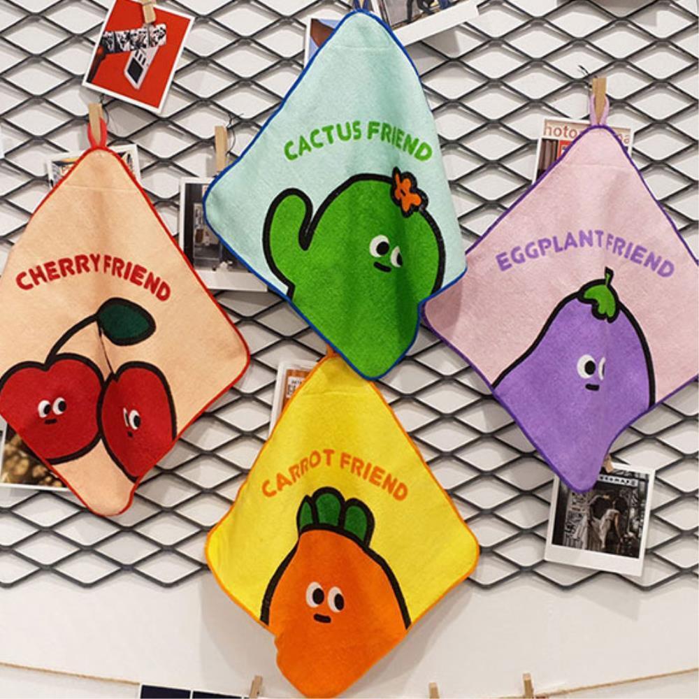 여성손수건 분실방지 네임택 손수건  어린이 핸드타올 10개