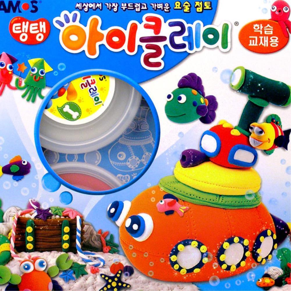 초등 미술재료 학습  교재용 클레이 점토 4개 클레이공예