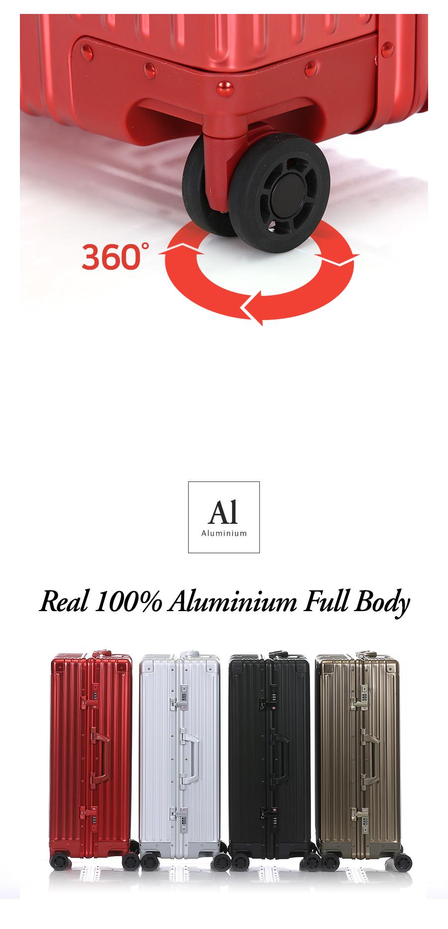 [100% 알루미늄] 르옴므 캐리어 28인치_레드 - 크리에이트, 378,000원, 하드형, 기내용(20형) 이하