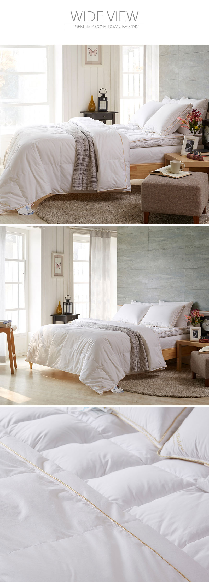 lightweight summer polish goose down 95 comforter quilt blanket duvet goldlabel ebay. Black Bedroom Furniture Sets. Home Design Ideas