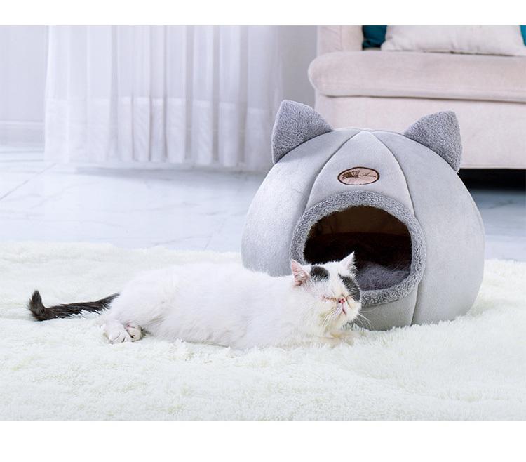 강아지 하우스 길 고양이 길냥이 겨울 방석 쿠션 동굴 숨숨 집 - 펫블라썸, 17,800원, 하우스/캣타워, 하우스