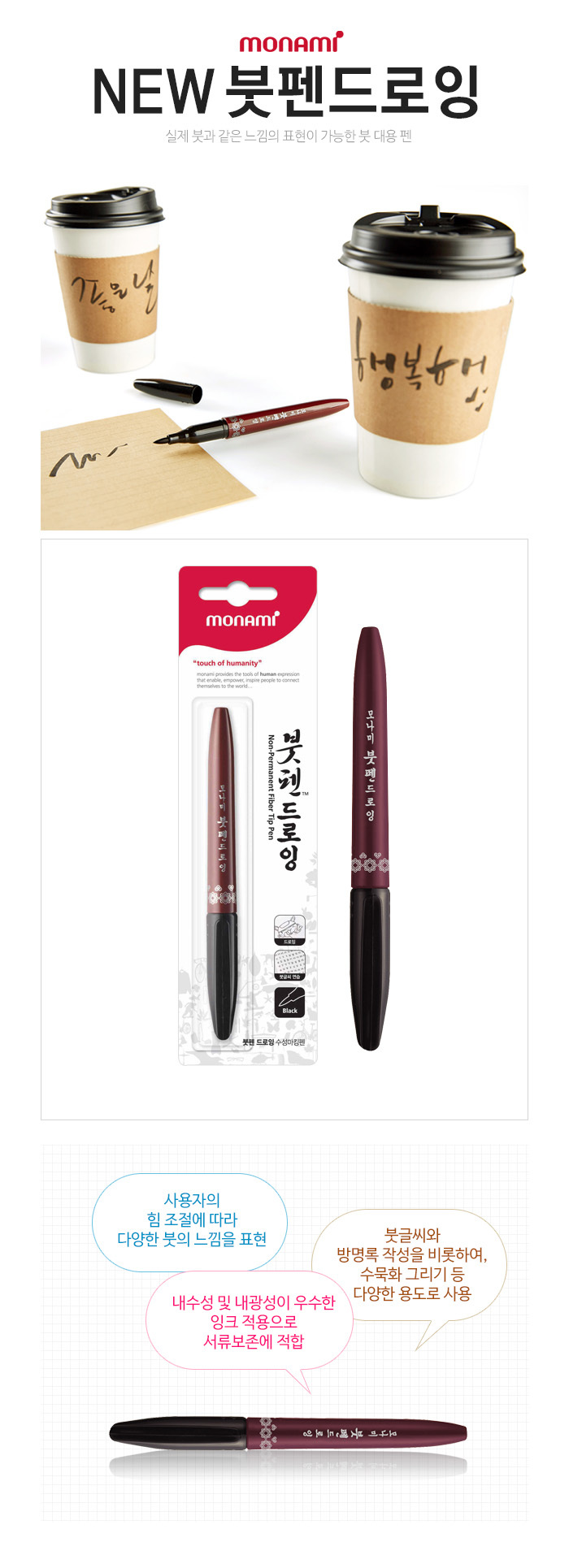 Monami New Brush Pen Drawing 1tier End 6 14 2020 309 Pm Eyebrow 12mouth Calligraphy