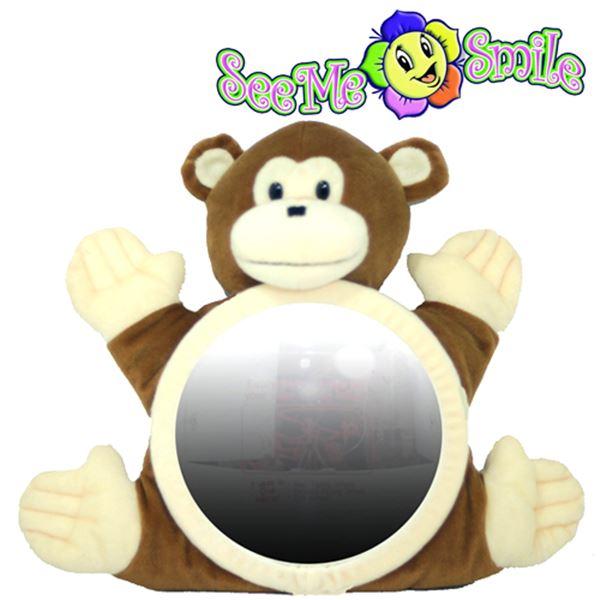 180707WEK7487 씨미스마일 카시트 인형거울 (원숭이거울)
