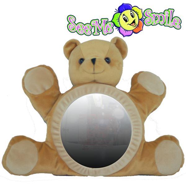 [현재분류명],씨미스마일 카시트 인형거울 (갈색곰거울),인형거울,씨미스마일,카시트,인형거울,아기장난감