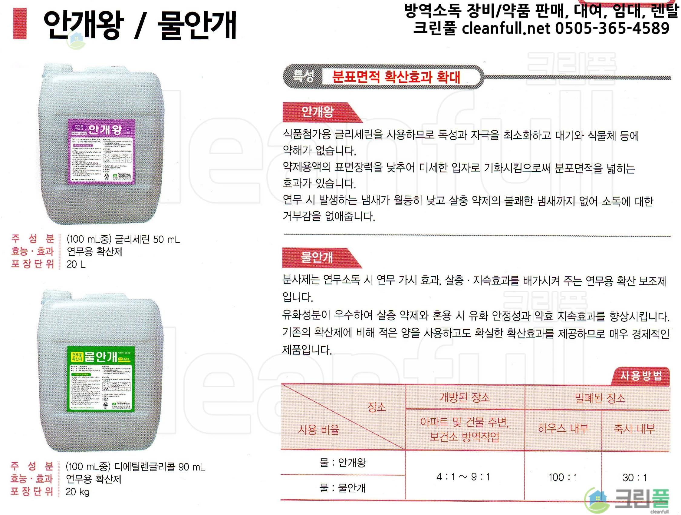 [카탈로그] 안개왕 20L(안개왕20리터)_연무용확산제_국보싸이언스(국보제약)