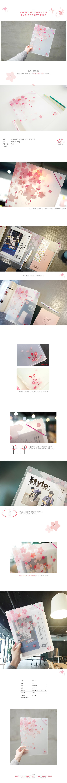 벚꽃비 투포켓 밴드파일 - 랑캣몰, 3,500원, 파일/클립보드, 화일케이스