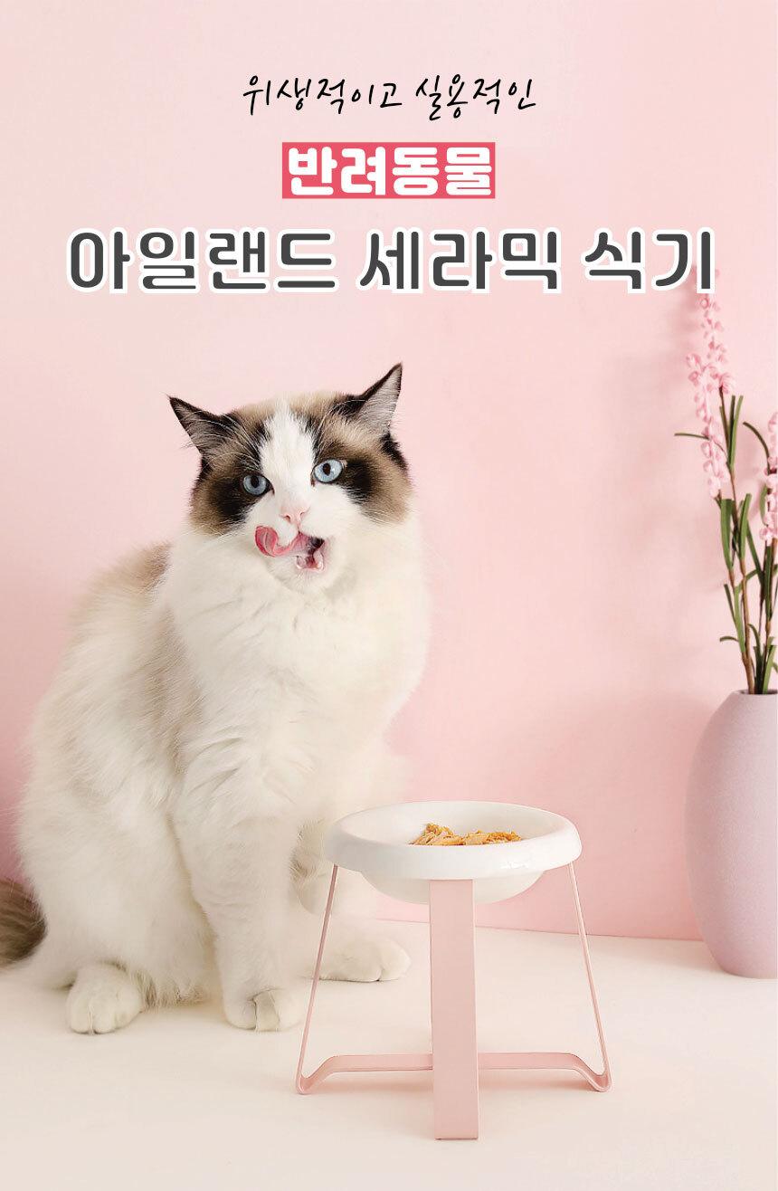 반려동물 아일랜드 세라믹식기 - 리스펫, 14,500원, 급수/급식기, 식기/식탁