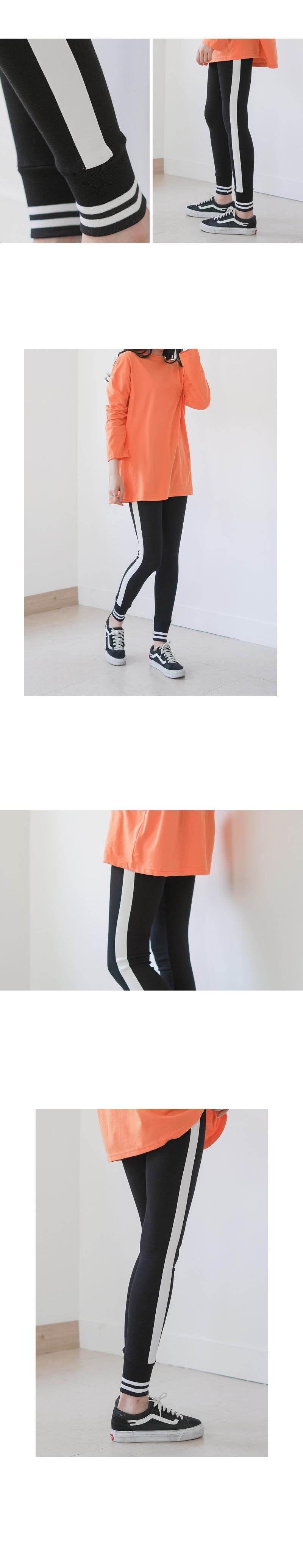 겟잇미 쫀쫀 신축 밴딩 라인 배색 레깅스 - 겟잇미, 23,730원, 하의, 레깅스