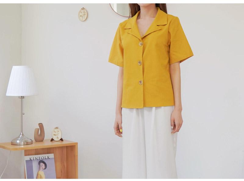 겟잇미 반팔 오픈카라 린넨 여름 셔츠 - 겟잇미, 37,090원, 상의, 블라우스/셔츠