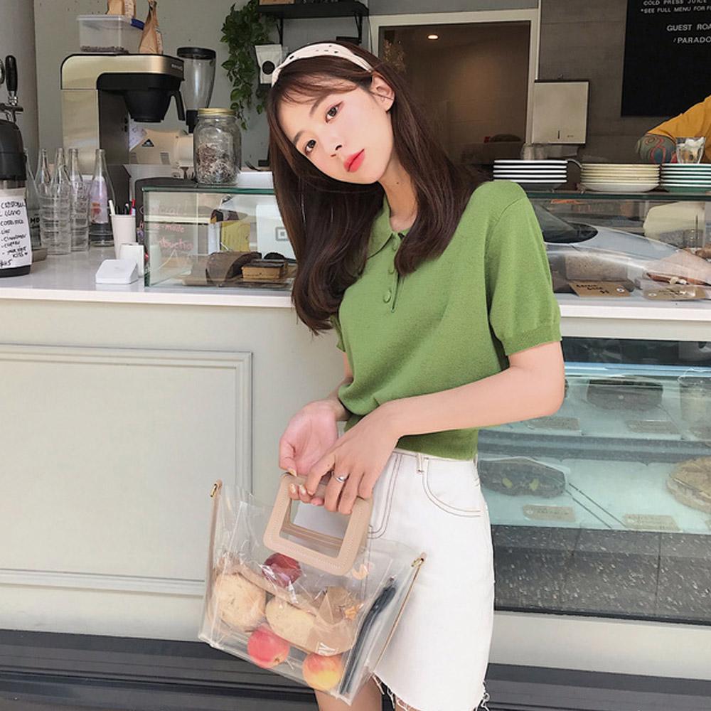 [TOP]캔디 카라 니트