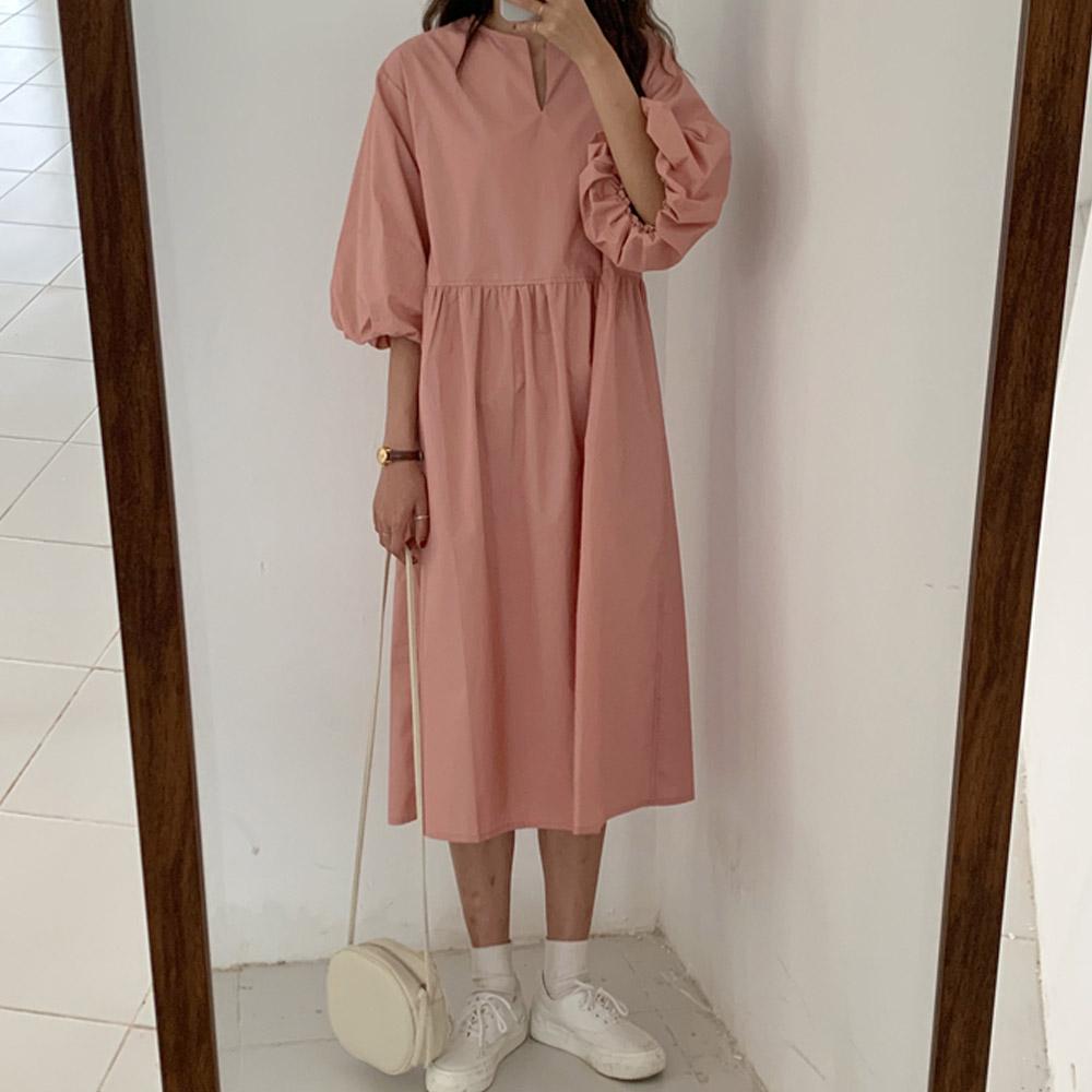 [DRESS]딸기요플레 퍼프원피스