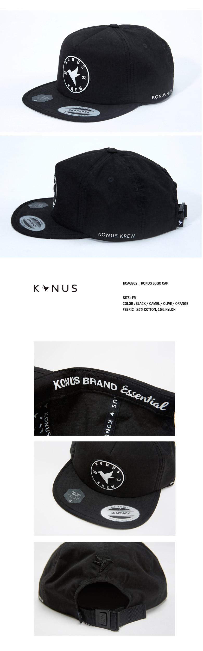 로고 스냅백 KCA6802_BK