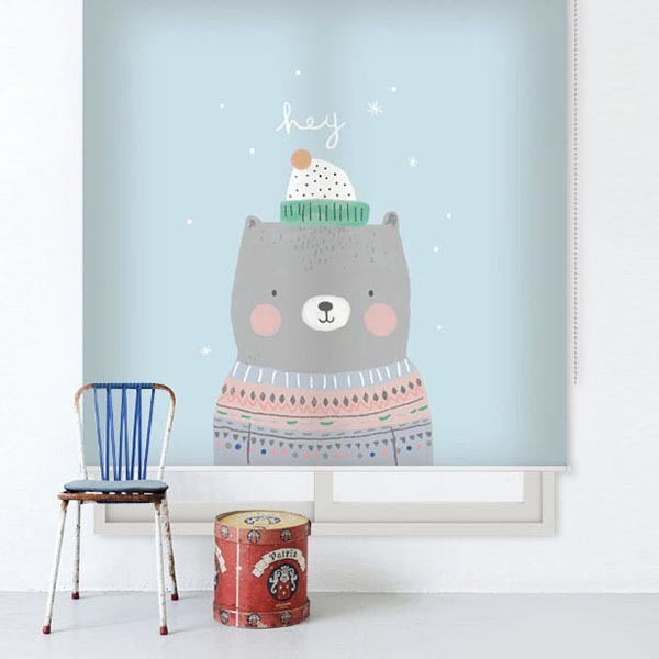 [곰돌이 5번] 롤스크린 아이방 아기 어린이 키즈 실사 그림 어린이집 유치원 암막 방염 맞춤 디자인 제작 로즈레
