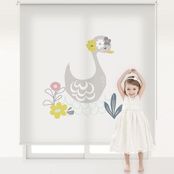 [러블리 프렌즈 4번] 롤스크린 아이방 아기 어린이 키즈 실사 그림 어린이집 유치원 암막 방염 맞춤 디자인 제작 로즈레