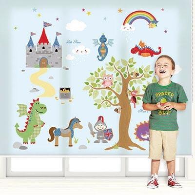 남자 아이방롤스크린 왕자 키즈 아기 암막, 방염, 실사, 그림 창문 롤 블라인드 맞춤제작