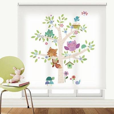 [부엉이나무 4] 롤스크린 아이방 아기 어린이 키즈 실사 그림 어린이집 유치원 암막 방염 맞춤 디자인 제작 로즈레