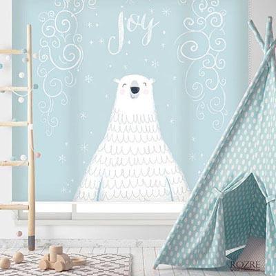 [북극곰 2번] 롤스크린 아이방 아기 어린이 키즈 실사 그림 어린이집 유치원 암막 방염 맞춤 디자인 제작 로즈레