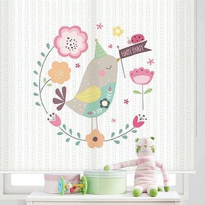 [아기새 1번] 롤스크린 아이방 아기 어린이 키즈 실사 그림 어린이집 유치원 암막 방염 맞춤 디자인 제작 로즈레