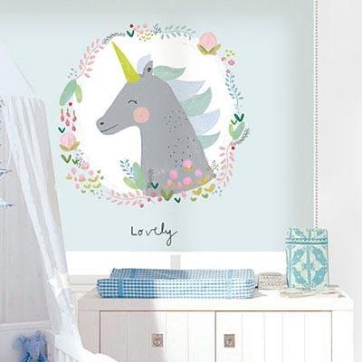 [아기유니콘] 롤스크린 아이방 아기 어린이 키즈 실사 그림 어린이집 유치원 암막 방염 맞춤 디자인 제작 로즈레