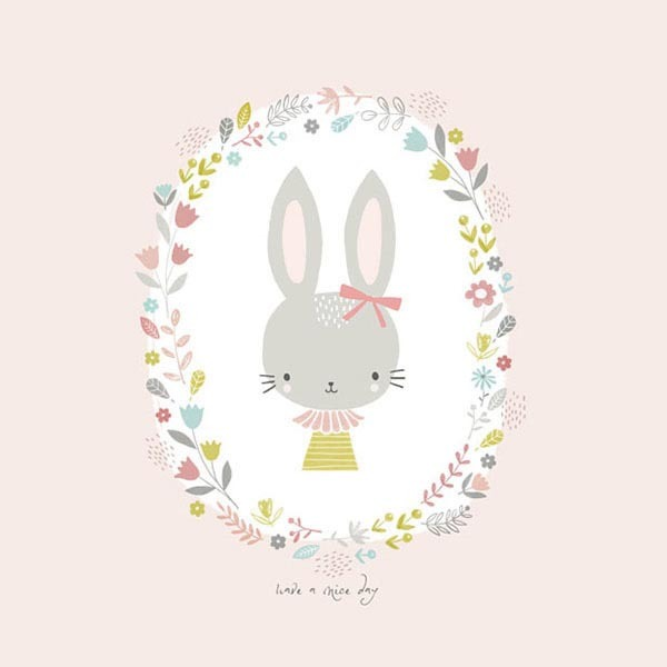 [아기토끼 1번] 롤스크린 아이방 아기 어린이 키즈 실사 그림 어린이집 유치원 암막 방염 맞춤 디자인 제작 로즈레