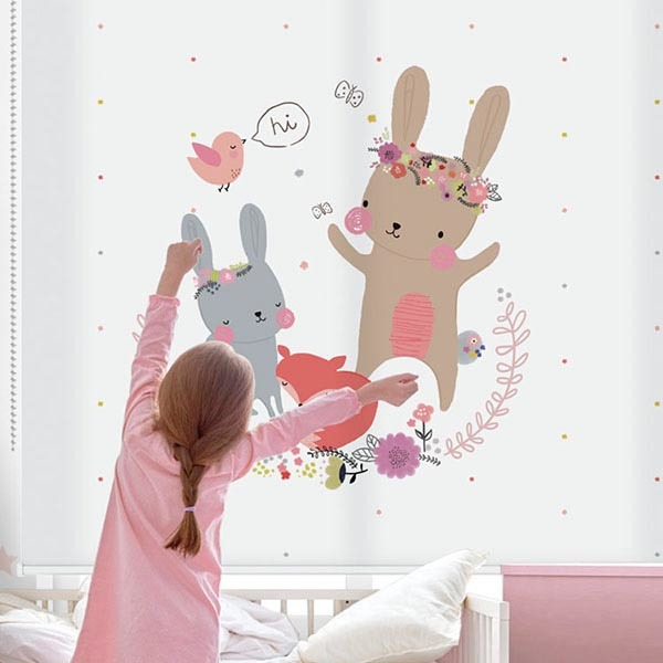 [아기토끼 4번] 롤스크린 아이방 아기 어린이 키즈 실사 그림 어린이집 유치원 암막 방염 맞춤 디자인 제작 로즈레