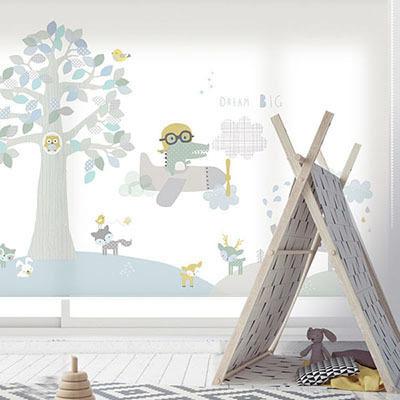 [해피 프렌즈 3번] 롤스크린 아이방 아기 어린이 키즈 실사 그림 어린이집 유치원 암막 방염 맞춤 디자인 제작 로즈레