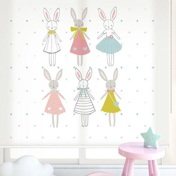 [해피프렌즈 5번] 롤스크린 아이방 아기 어린이 키즈 실사 그림 어린이집 유치원 암막 방염 맞춤 디자인 제작 로즈레