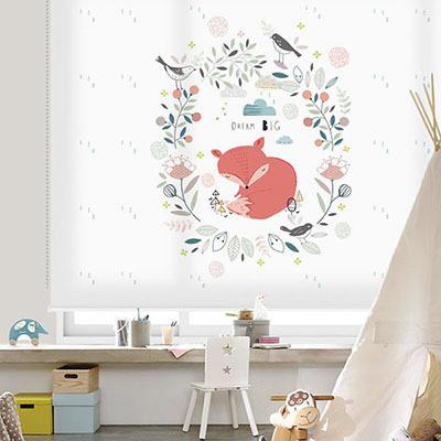 [해피프렌즈 9번] 롤스크린 아이방 아기 어린이 키즈 실사 그림 어린이집 유치원 암막 방염 맞춤 디자인 제작 로즈레