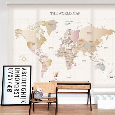 [10 뉴월드맵] 세계지도롤스크린