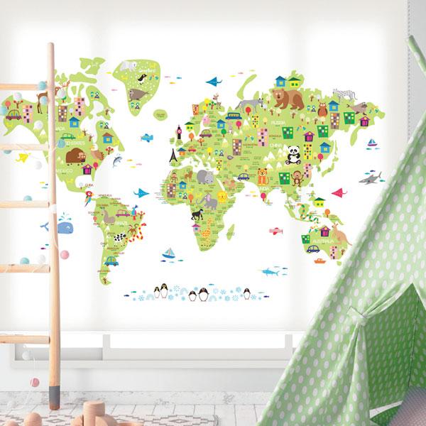 [39 귀여운세계지도-연그린] 롤스크린