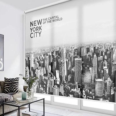 [뉴욕 2번] 실사 암막 방염 맞춤 디자인 제작 롤스크린 로즈레