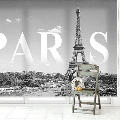 [에펠탑6번] 실사 암막 방염 맞춤 디자인 제작 롤스크린 로즈레