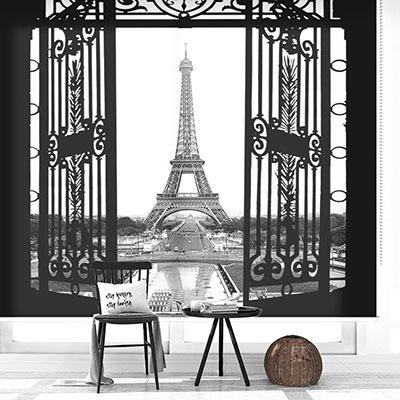 실사 롤스크린 파리 사진 암막 방염 디자인 아트 포인트 창문 롤 블라인드 인쇄 맞춤제작