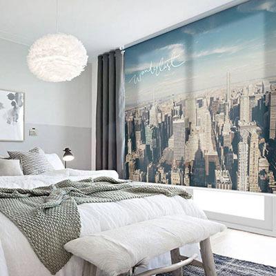 실사 롤스크린 뉴욕 사무실 사진 암막 방염 디자인 아트 창문 롤 블라인드 인쇄 맞춤제작