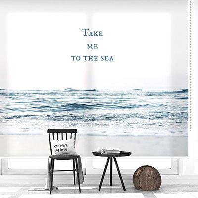 [바다 풍경 5번] 실사 암막 방염 맞춤 디자인 제작 롤스크린 로즈레