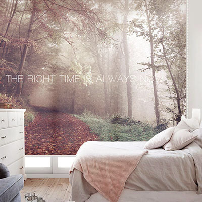 [아침산책] 실사 암막 방염 맞춤 디자인 제작 롤스크린 로즈레