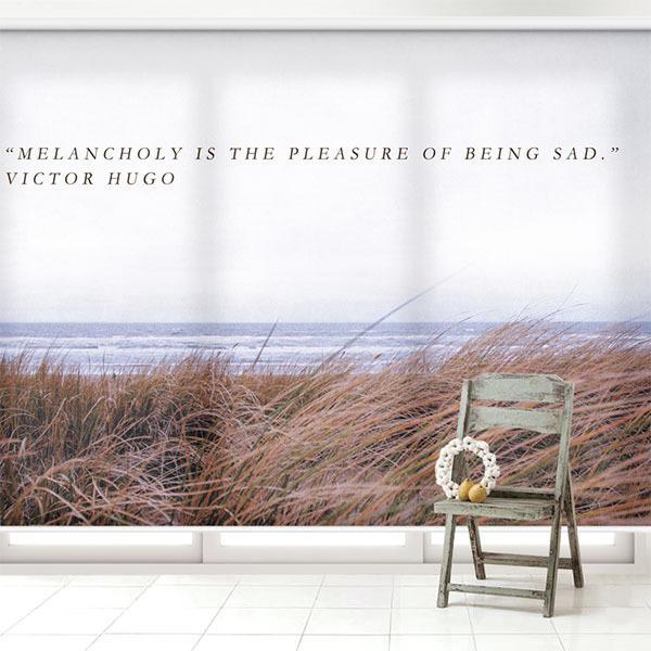 실사 롤스크린 바다 풍경 사진 암막, 방염, 거실 사무실 창문 롤 블라인드 인쇄 맞춤제작
